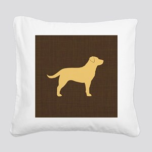 yellowlabpillow Square Canvas Pillow