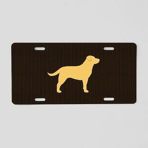 yellowlabbigbag Aluminum License Plate