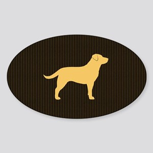 yellowlabbigbag Sticker (Oval)
