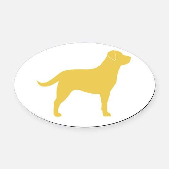 yellowlabrght Oval Car Magnet