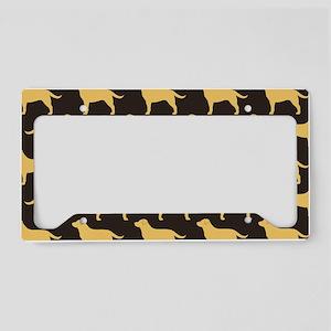yellowlabsclutch License Plate Holder