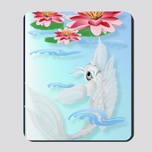 LargePosterSilver Koi-Pink and Pink Lili Mousepad