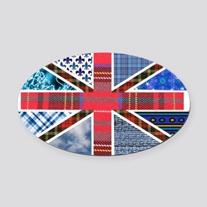 Tartan and other texture and patte Oval Car Magnet
