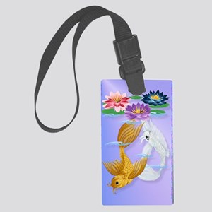 iPod TouchGold and Silver Koi wi Large Luggage Tag