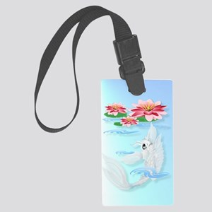 iPod Touch Silver Koi-Pink and P Large Luggage Tag
