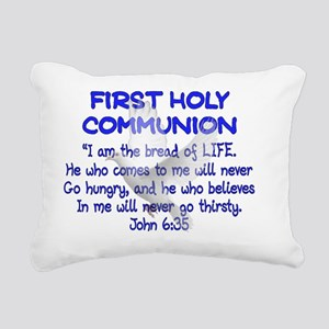 first communion dove BLU Rectangular Canvas Pillow