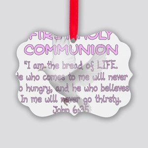 first communion dove Picture Ornament