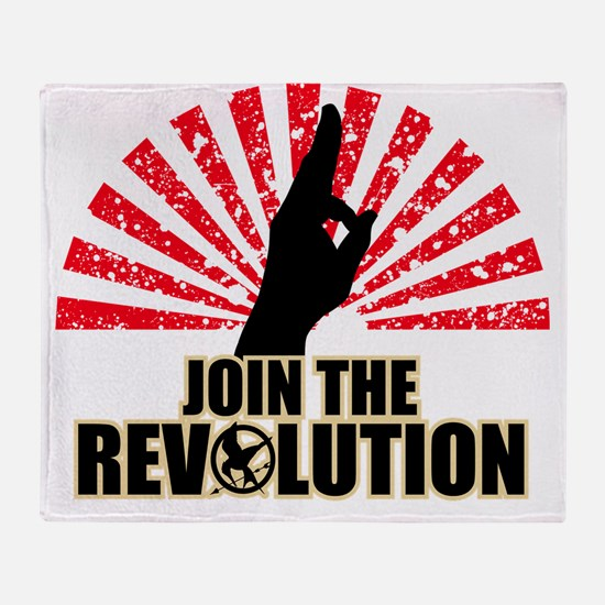 Hunger Games Revolution Throw Blanket