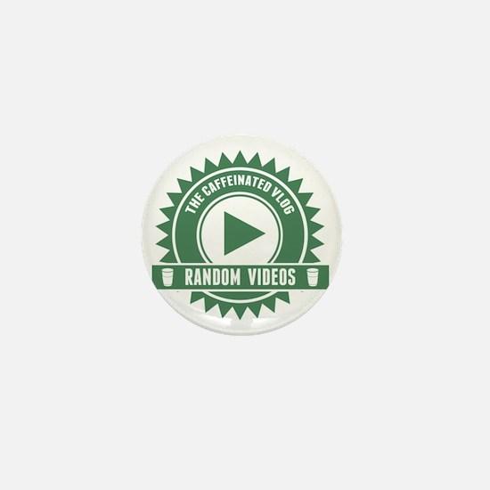 Caffeinated Vlog Seal Mini Button