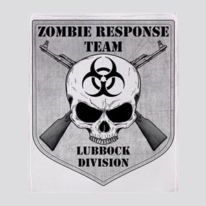 Zombie Response Team Lubbock Throw Blanket