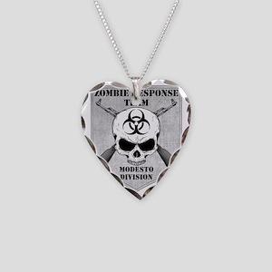 Zombie Response Team Modesto Necklace Heart Charm