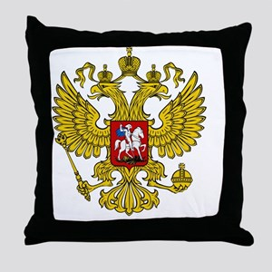 Russian Eagle Throw Pillow