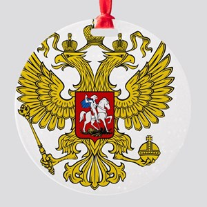 Russian Eagle Round Ornament