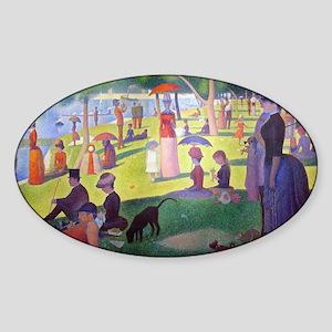 Laptop Seurat Jatte Sticker (Oval)