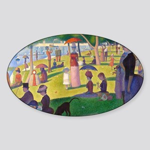Clutch Seurat Jatte Sticker (Oval)
