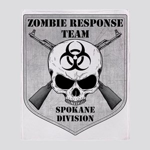 Zombie Response Team Spokane Throw Blanket