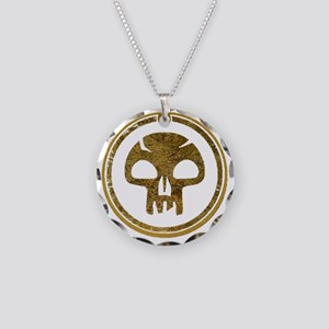 BlackMana Necklace Circle Charm