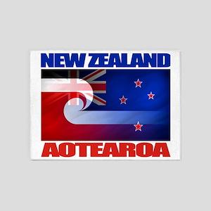 NZ-Aotearoa Flag 5'x7'Area Rug