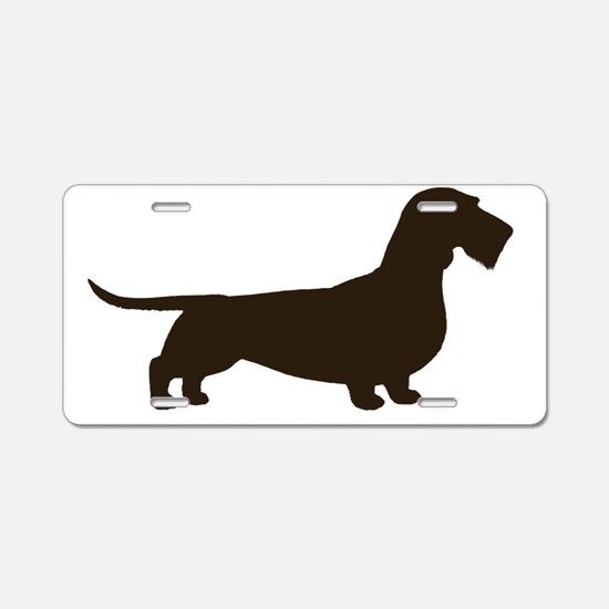 wirehaireddoxiechocrght Aluminum License Plate