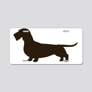 wirehaireddoxiechoc Aluminum License Plate