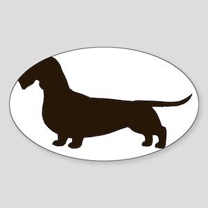 wirehaireddoxiechoc Sticker (Oval)