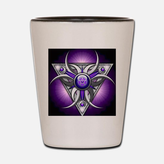 Triple Goddess - purple - stadium blank Shot Glass