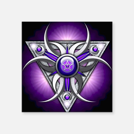 "Triple Goddess - purple - s Square Sticker 3"" x 3"""