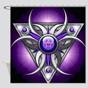 Triple Goddess - purple - stadium b Shower Curtain
