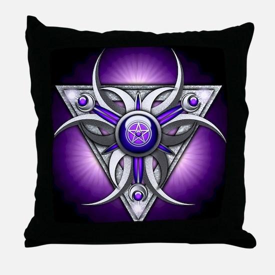 Triple Goddess - purple - stadium bla Throw Pillow