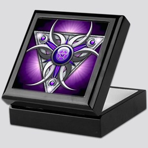 Triple Goddess - purple - stadium bla Keepsake Box
