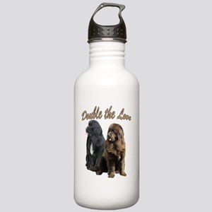 two newfslove Stainless Water Bottle 1.0L
