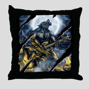 wolfshirt Throw Pillow