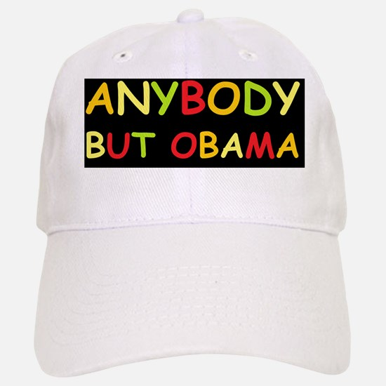 anti obama anybody but comic sansd Baseball Baseball Cap