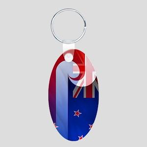NZ-Aot (nexus s) Aluminum Oval Keychain