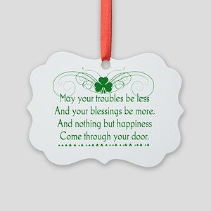 Irish Blessing 1 Picture Ornament