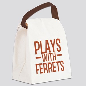 playsferrets Canvas Lunch Bag