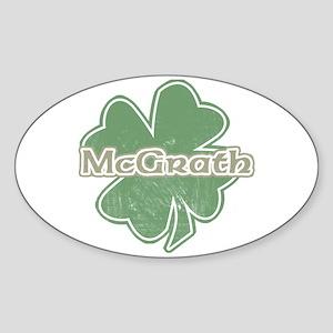 """""""Shamrock - McGrath"""" Oval Sticker"""
