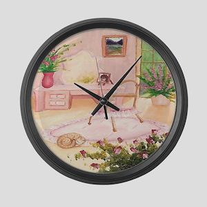 powder-room Large Wall Clock