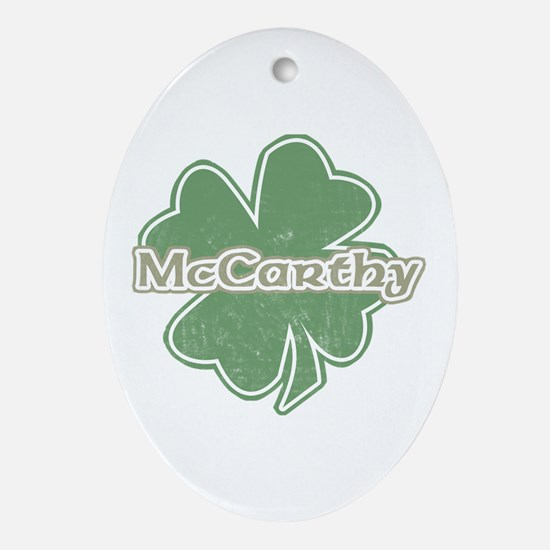 """Shamrock - McCarthy"" Oval Ornament"