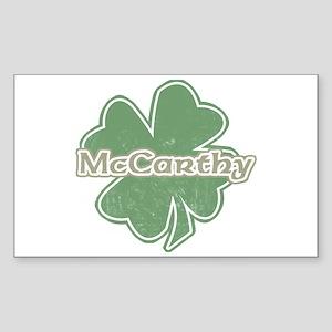 """Shamrock - McCarthy"" Rectangle Sticker"