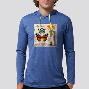 VINTAGE FRENCH BUTTERFLIES Long Sleeve T-Shirt