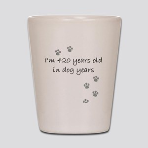 60 dog years 2-1 Shot Glass