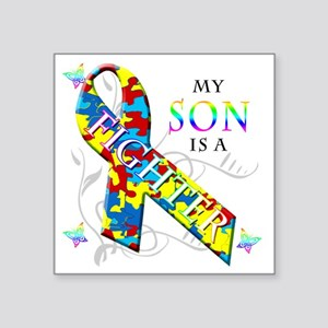 """My Son is a Fighter Square Sticker 3"""" x 3"""""""