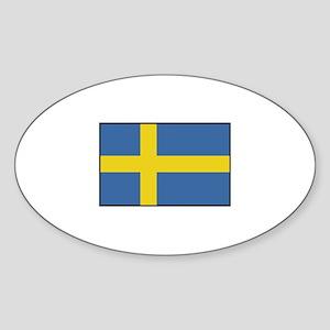 Sweden - Flag Oval Sticker
