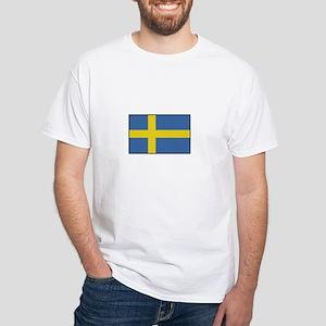 Sweden - Flag White T-Shirt
