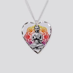 buddha Necklace Heart Charm