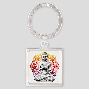 buddha Square Keychain