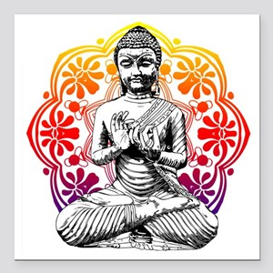 "buddha Square Car Magnet 3"" x 3"""