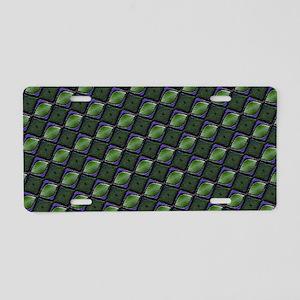 Stylish Green Aluminum License Plate