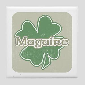 """""""Shamrock - Maguire"""" Tile Coaster"""